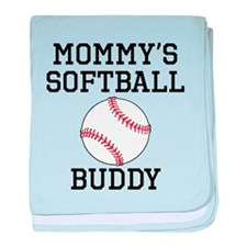 Mommys Softball Buddy baby blanket