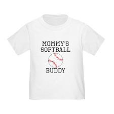 Mommys Softball Buddy T-Shirt