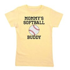 Mommys Softball Buddy Girl's Tee