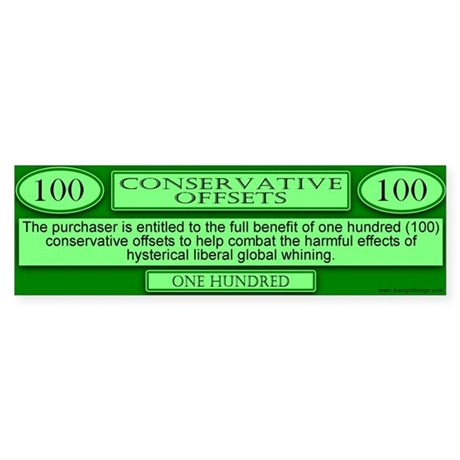 Conservative Offsets (100) Bumper Sticker