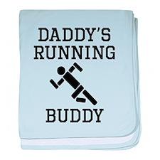 Daddys Running Buddy baby blanket