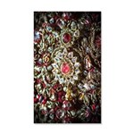 Indian Diamond and Ruby 35x21 Wall Decal
