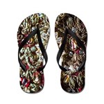 Indian Diamond and Ruby Flip Flops