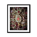 Indian Diamond and Ruby Framed Panel Print