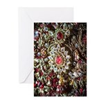 Indian Diamond and Ruby Greeting Cards (Pk of 10)