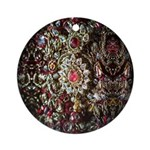 Indian Diamond and Ruby Ornament (Round)