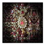 Indian Diamond and Ruby Square Car Magnet 3