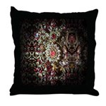Indian Diamond and Ruby Throw Pillow