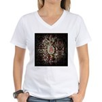 Indian Diamond and Ruby Women's V-Neck T-Shirt