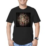 Indian Diamond and Ruby Men's Fitted T-Shirt (dark