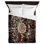 Indian Diamond and Ruby Queen Duvet