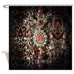 Indian Diamond and Ruby Shower Curtain