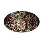Indian Diamond and Ruby Oval Car Magnet