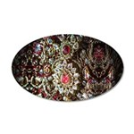 Indian Diamond and Ruby 20x12 Oval Wall Decal