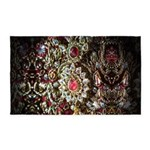 Indian Diamond and Ruby 3'x5' Area Rug