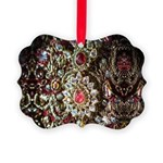 Indian Diamond and Ruby Picture Ornament