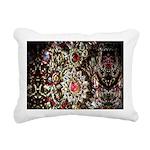 Indian Diamond and Ruby Rectangular Canvas Pillow