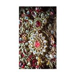 Indian Diamond and Ruby Sticker (Rectangle 50 pk)