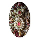 Indian Diamond and Ruby Sticker (Oval 50 pk)