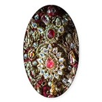 Indian Diamond and Ruby Sticker (Oval)