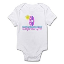 California Girl Pink Surfboard W/Sun Baby Bodysuit