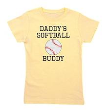 Daddys Softball Buddy Girl's Tee