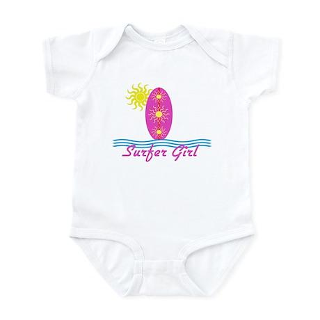 Surfer Girl baby Bodysuit with sun