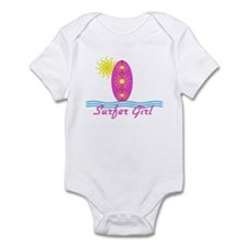 Surfer Girl baby Bodysuit with sun
