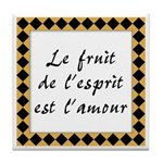 Fruit Esprit Amour Tile Coaster