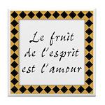 Fruit Esprit Amour Tile Coaster
