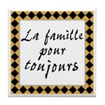 Famille Toujours Tile Coaster