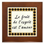 Fruit Esprit Amour Framed Tile