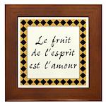 Fruit Esprit Amour Framed Tile