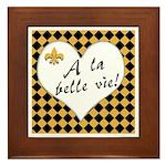 La Belle Vie Framed Tile