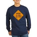 Take Heed of This Long Sleeve Dark T-Shirt