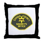 Sierra County Sheriff Throw Pillow