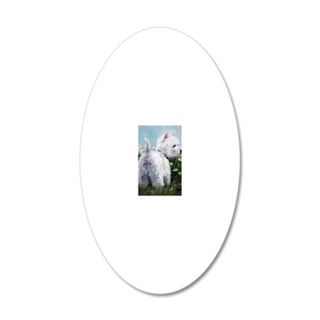 Picking Daisies 20x12 Oval Wall Decal