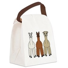 alpaca - no text Canvas Lunch Bag