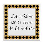 Cuisine Coeur Maison Tile Coaster