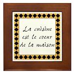 Cuisine Coeur Maison Framed Tile