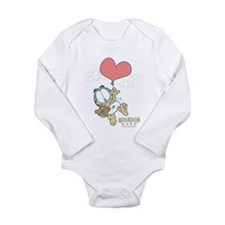 Heart Balloon Long Sleeve Infant Bodysuit