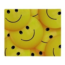 Smiley Faces Everywhere Throw Blanket