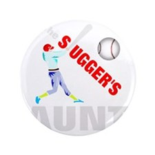 "Baseball players aunt 3.5"" Button"