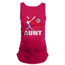 Baseball players aunt Maternity Tank Top
