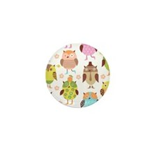 Cute Owls Mini Button