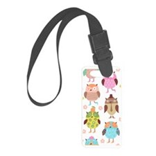 Cute Owls Luggage Tag