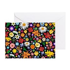 Spring Flowers Pattern Greeting Card