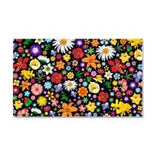 Spring Flowers Pattern Car Magnet 20 x 12
