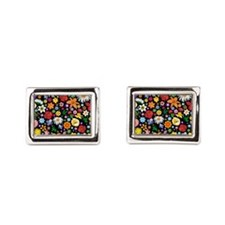 Spring Flowers Pattern Cufflinks