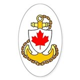 Royal Canadian Navy Oval Decal